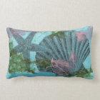 Sea Star and Scallop Lumbar Pillow