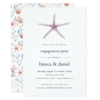 Sea Star | Engagement Party Invitation