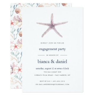 Sea Star | Engagement Party Invitation