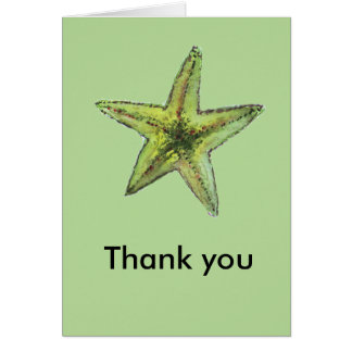 Sea Star Thank You Card