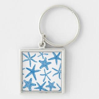 Sea stars in blue keychain