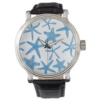 Sea stars in blue watch