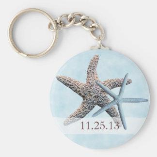Sea Stars Wedding Favor Keychain