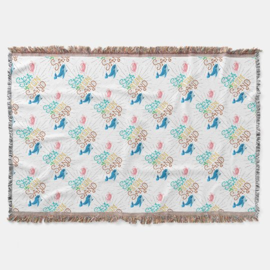 Sea Sun Sand Throw Blanket