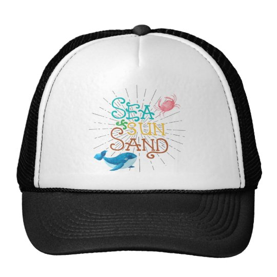 Sea Sun Sand Trucker Hat
