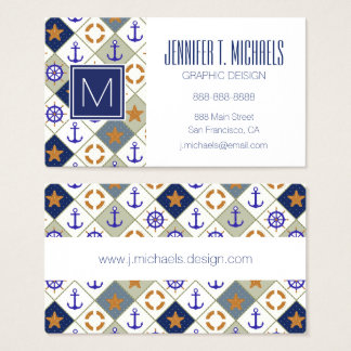 Sea Theme Pattern Business Card