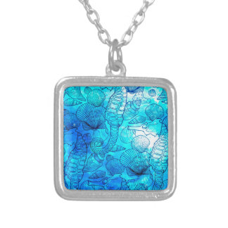 SEA THINGS 3 SILVER PLATED NECKLACE