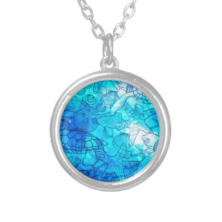 SEA THINGS 4 SILVER PLATED NECKLACE