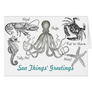 Sea Things' Greetings Card