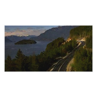 Sea to Sky Highway to Whistler Poster