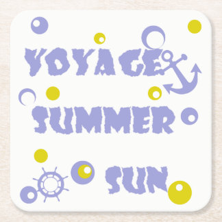 Sea, travel , summer square paper coaster