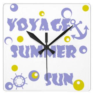 Sea, travel , summer square wall clock