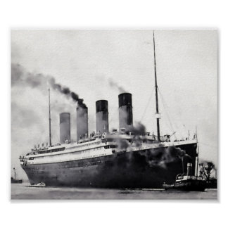 Sea Trials Begin:  RMS Titanic Poster
