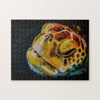 Sea Turtle 03 Digital Art - Photo Puzzle
