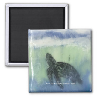 """Sea Turtle""  Art Magnet"
