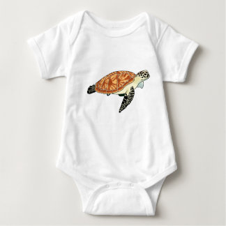 Sea turtle baby bodysuit