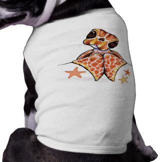 Sea Turtle Baby Brown Starfish Doggie T Shirt