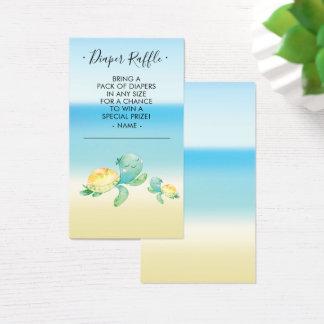 Sea Turtle Baby Shower Diaper Raffle Ticket