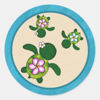 Sea TURTLE Baby Shower (Honu) 01C2 Sticker TWINS