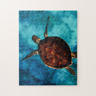 Sea Turtle Beauty Jigsaw Puzzle