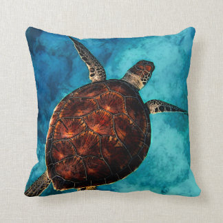 Sea Turtle Beauty Throw Pillow
