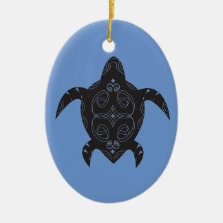 Sea Turtle Belly Ceramic Ornament