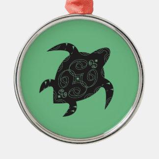 Sea Turtle Belly Metal Ornament