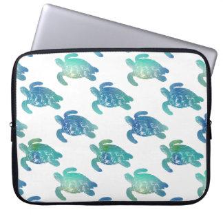 Sea Turtle Blue Green Laptop Sleeve