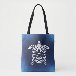 Sea Turtle Blue Tote