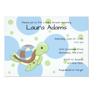Sea Turtle Boy Baby Shower Invitations