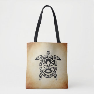 Sea Turtle Brown Tote Bag