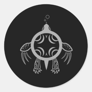 Sea Turtle Bubbles Classic Round Sticker