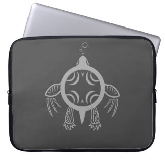 Sea Turtle Bubbles Laptop Sleeves