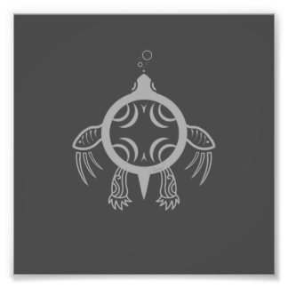 Sea Turtle Bubbles Photo Print