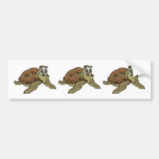 Sea Turtle Cartoon Bumper Stickers