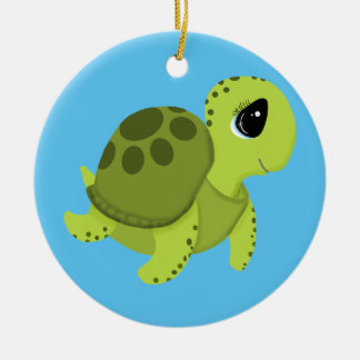 Sea Turtle Ceramic Ornament