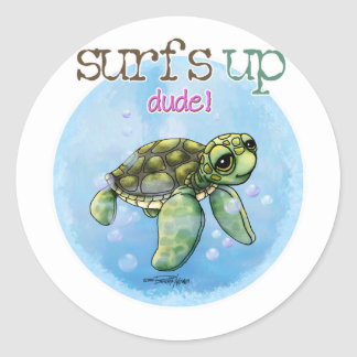 Sea Turtle Classic Round Sticker