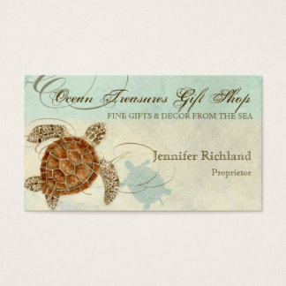 Sea Turtle Coastal Beach - Business Cards