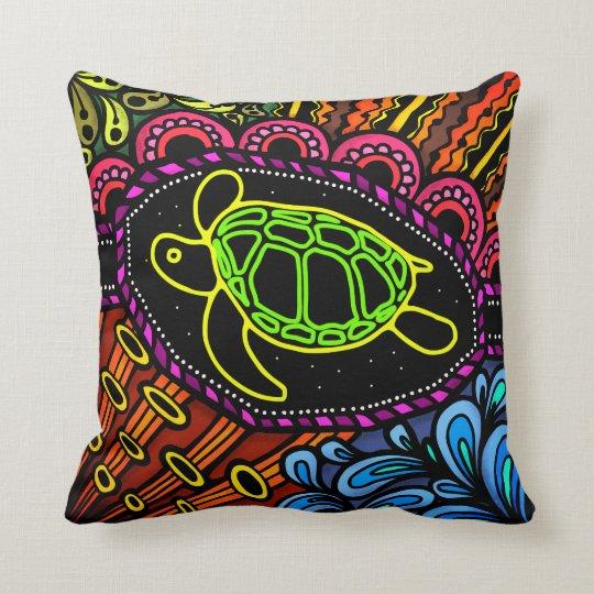 Sea Turtle Colourful Throw Pillow