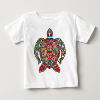 Sea Turtle Floral Flowers Decorative Ornamental Baby T-Shirt