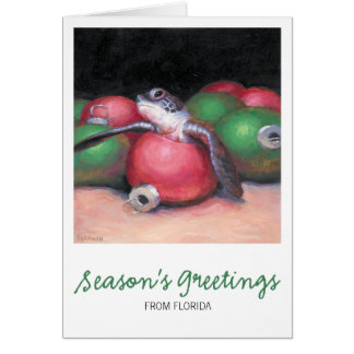 Sea Turtle Florida Christmas Card