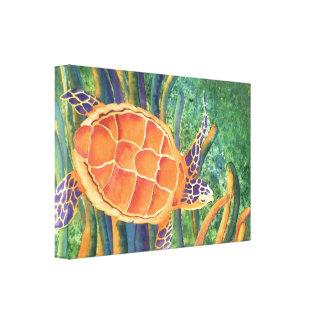sea turtle gallery wrap canvas