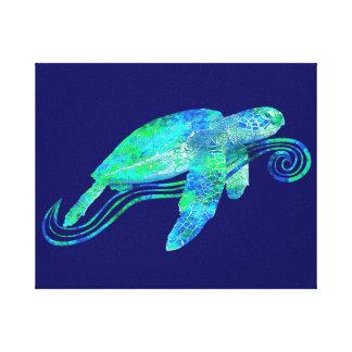Sea Turtle Graphic Canvas Prints