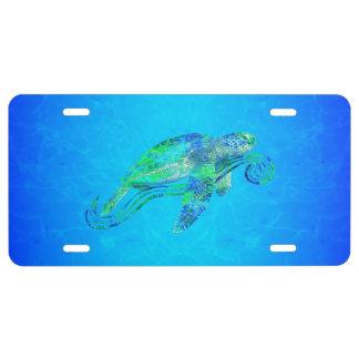 Sea Turtle Graphic License Plate