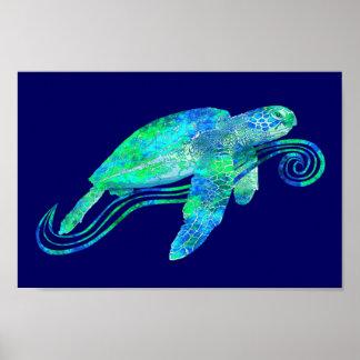 Sea Turtle Graphic Poster
