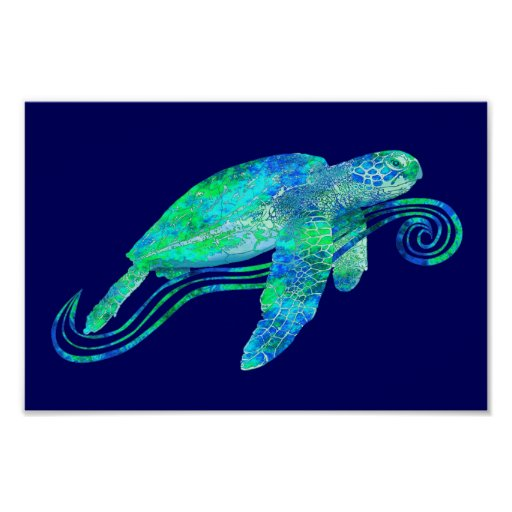 Sea Turtle Graphic Print
