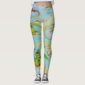 Sea Turtle Hatchlings Leggings