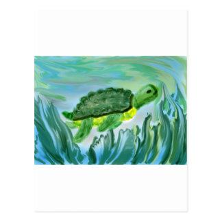 Sea Turtle image Postcard