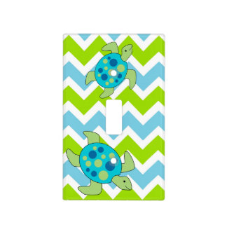 sea turtle light switch plate cover blue green