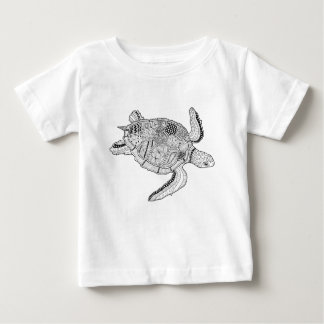 Sea Turtle Lineart Design Baby T-Shirt